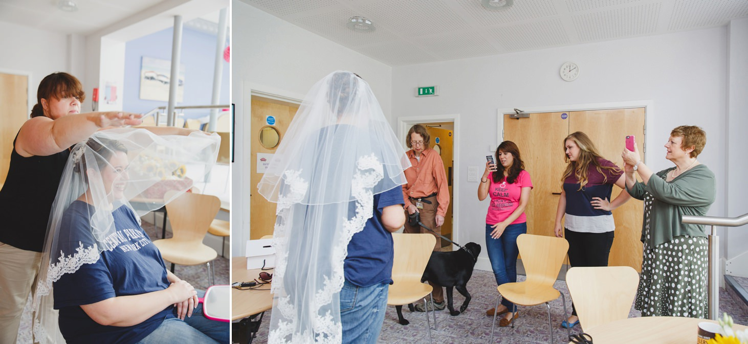 Wycombe Abbey wedding photography bride in her veil