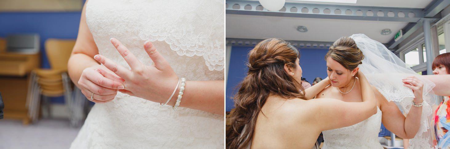 Wycombe Abbey wedding photography bridesmaids dressing bride