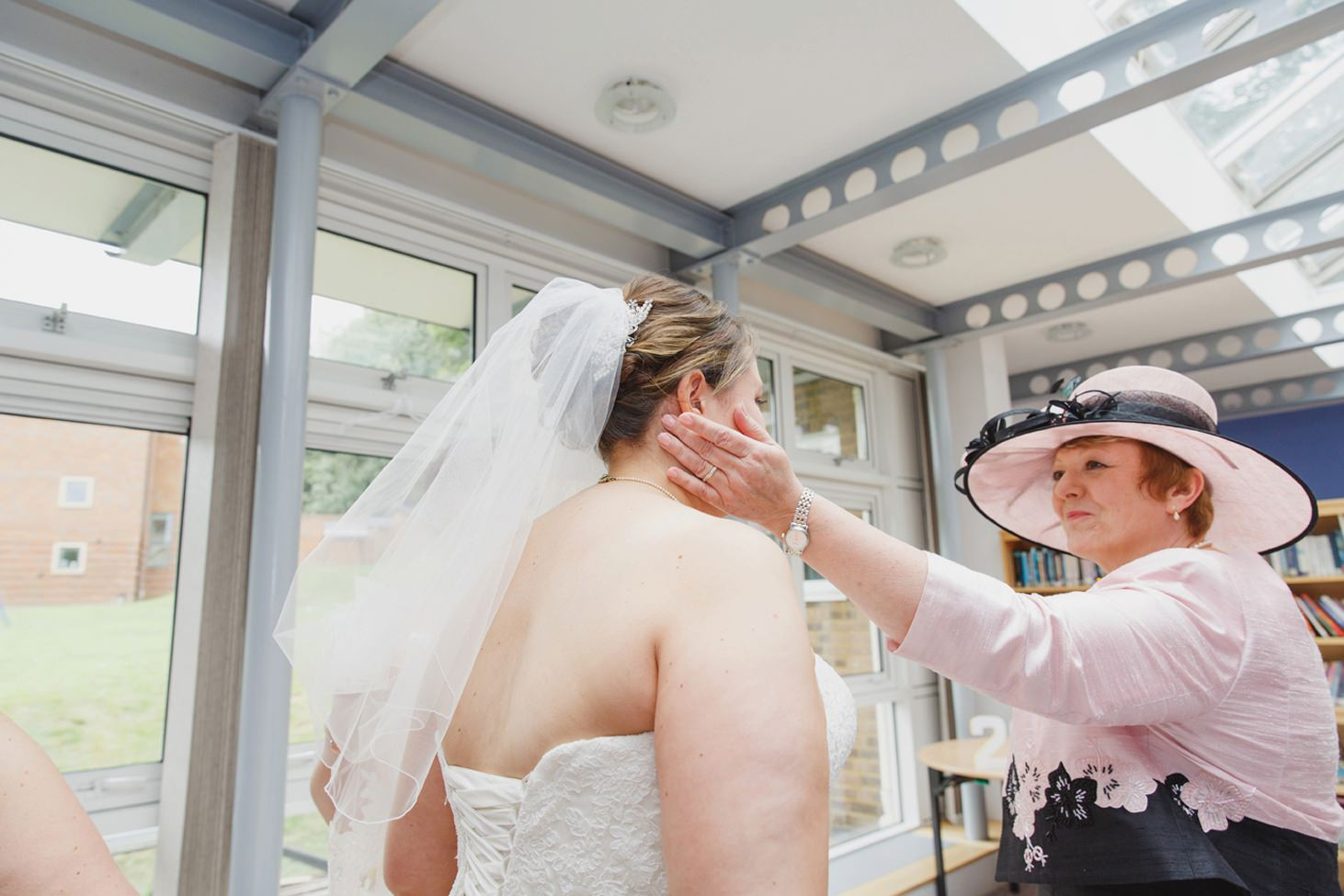 Wycombe Abbey wedding photography bride and mother of bride
