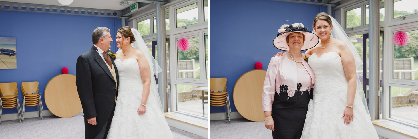 Wycombe Abbey wedding photography bride and parents