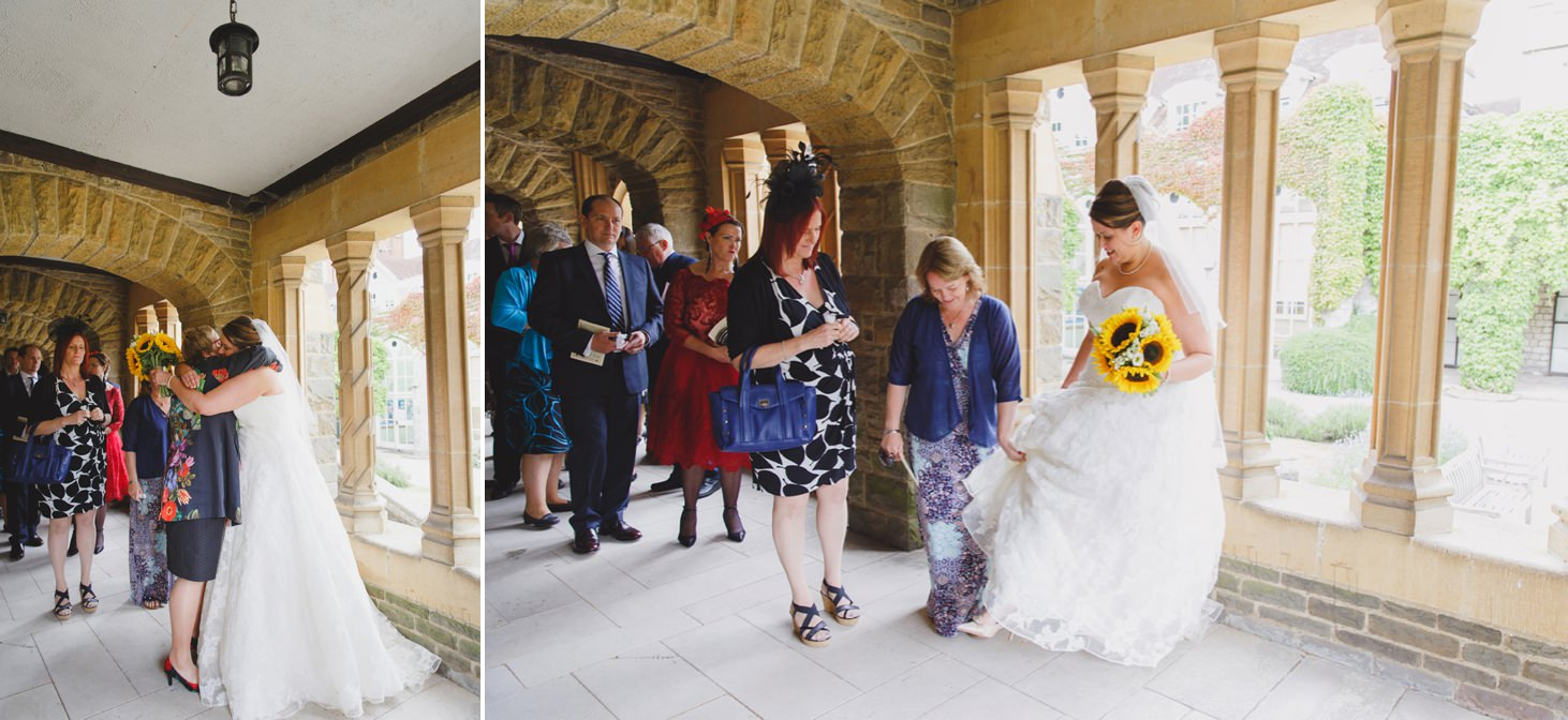 Wycombe Abbey wedding photography bride and guests