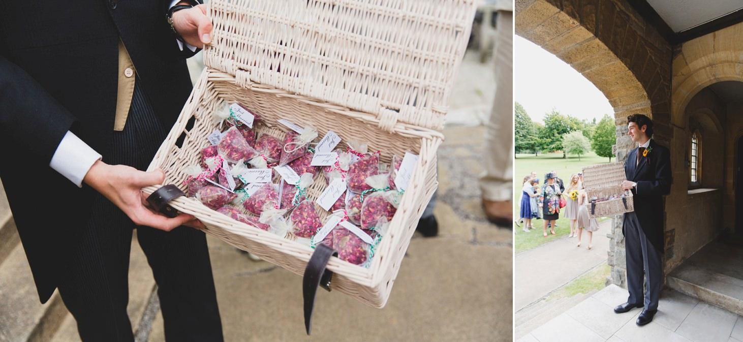 Wycombe Abbey wedding photography confetti