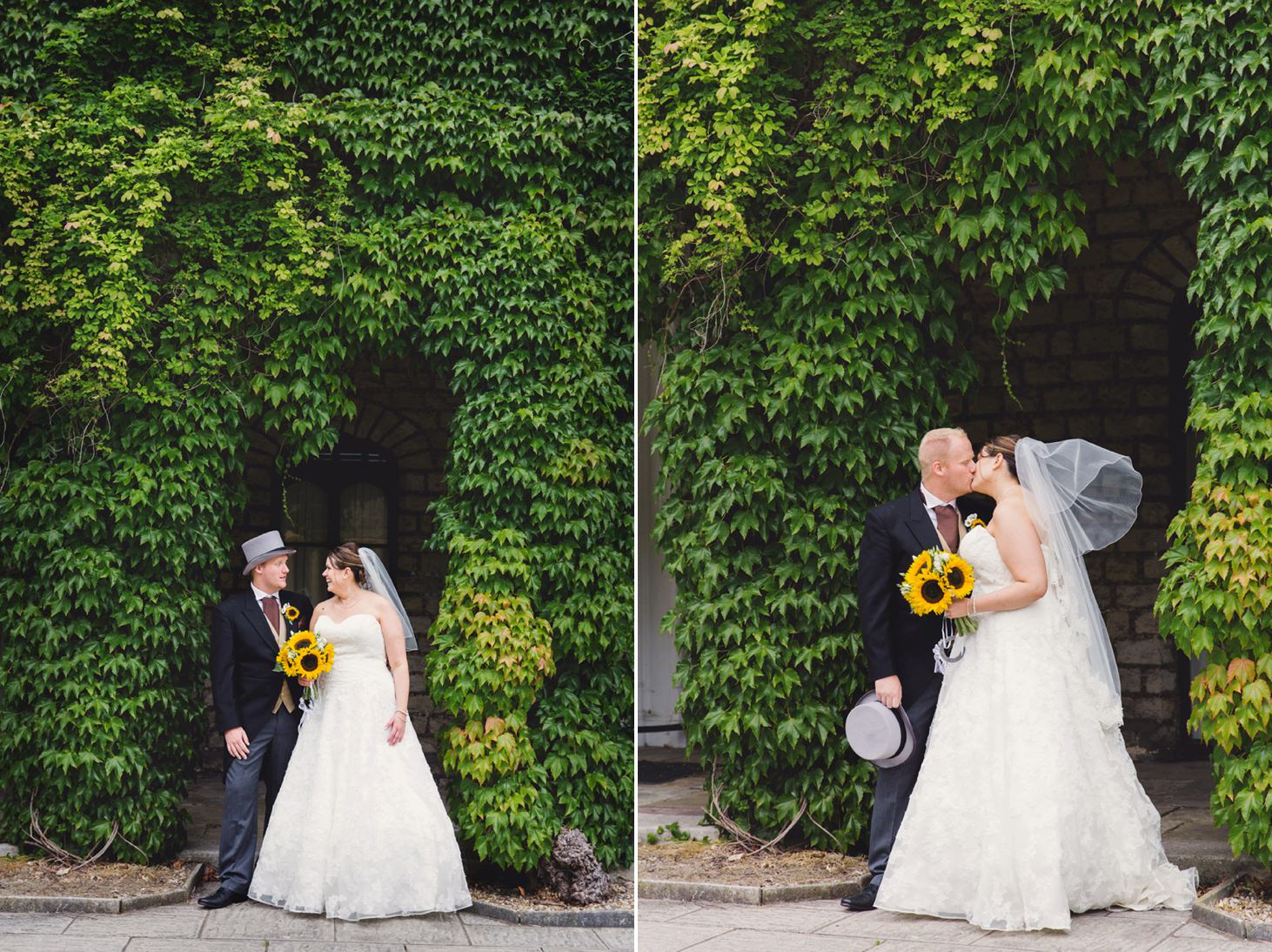 Wycombe Abbey wedding photography bride and groom portrait