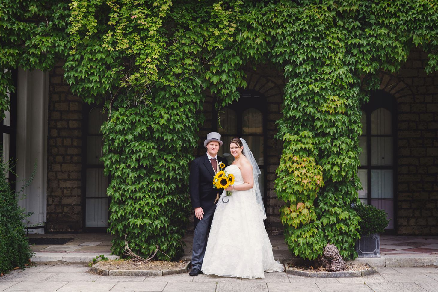 Wycombe Abbey wedding photography bride and groom