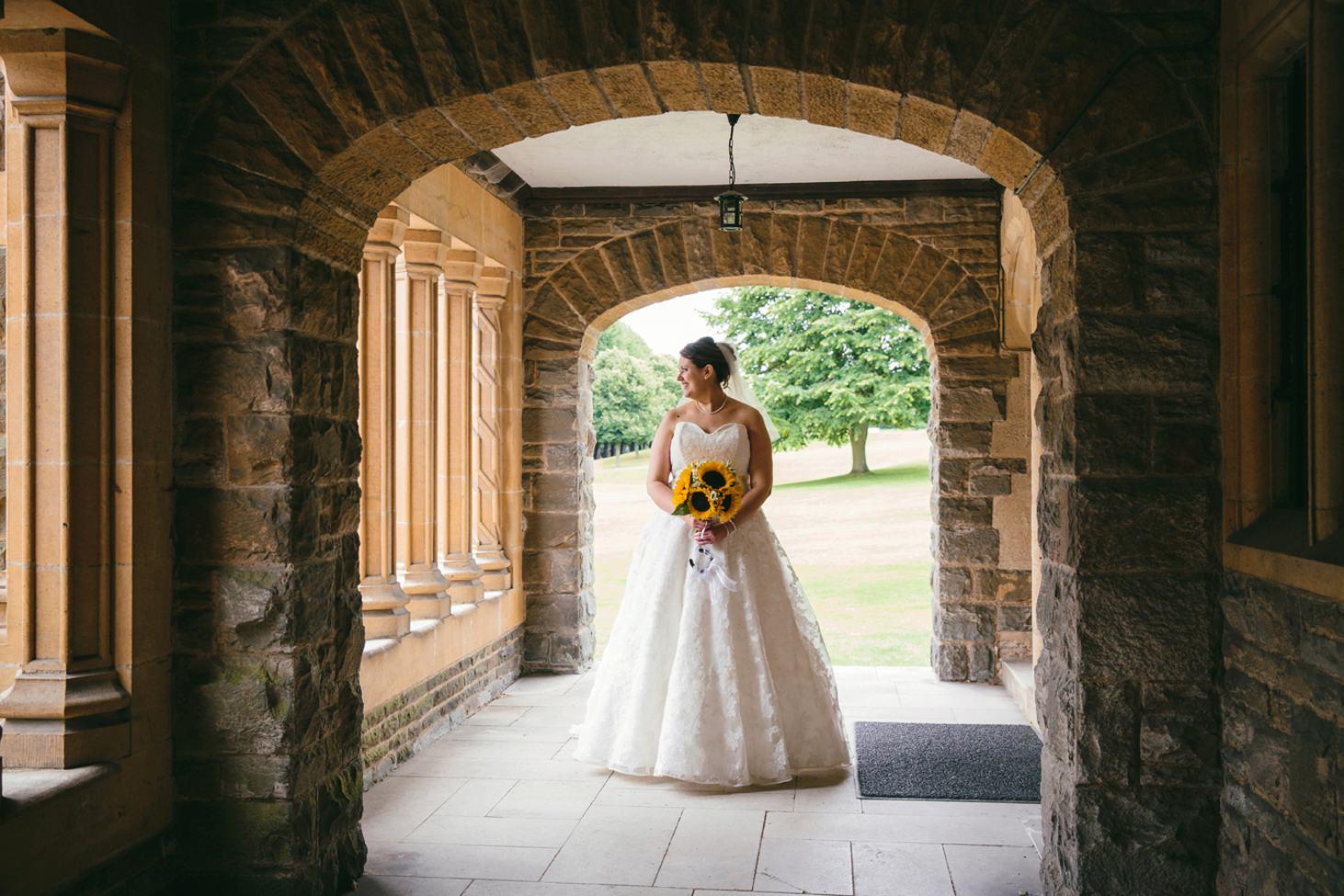 Wycombe Abbey wedding photography bride portrait n chapel