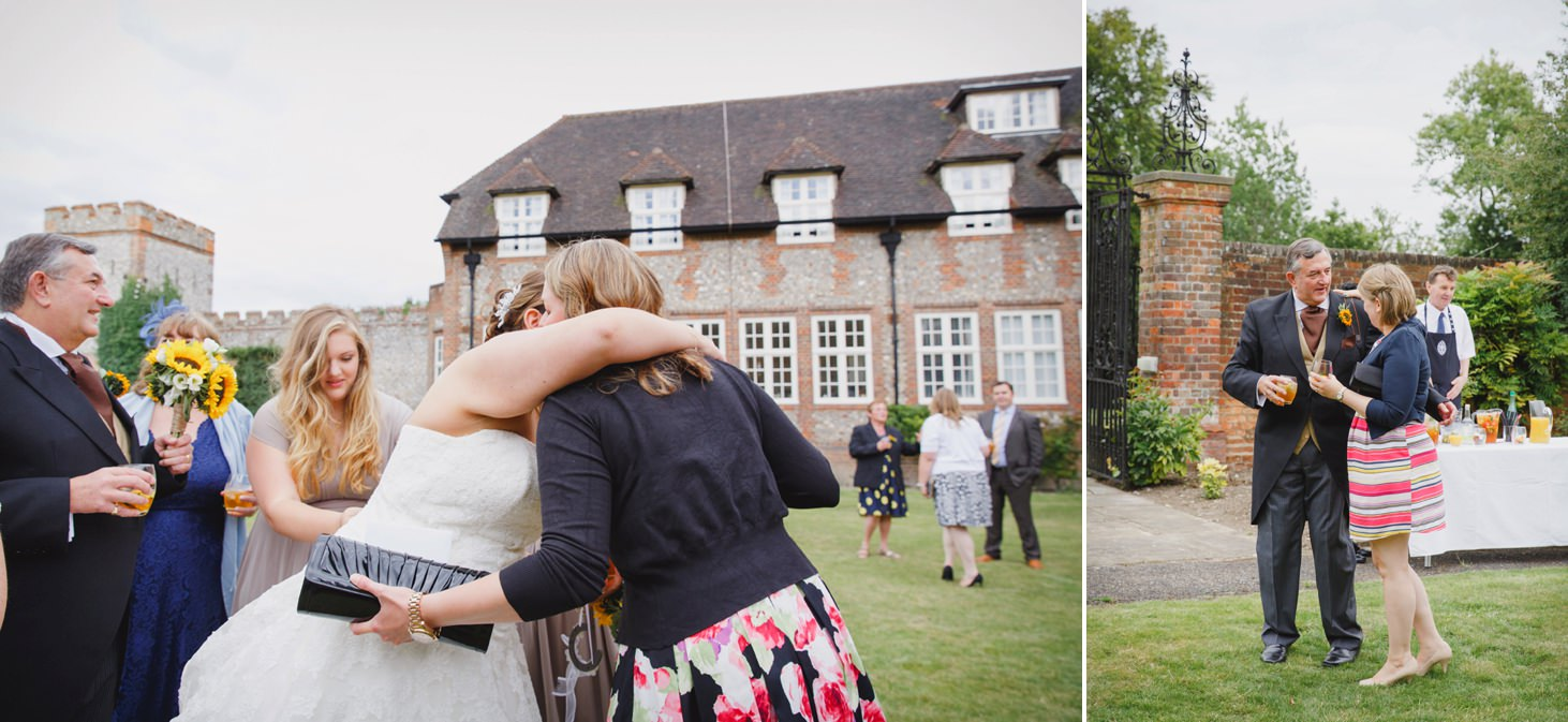 Wycombe Abbey wedding photography bride greeting guests
