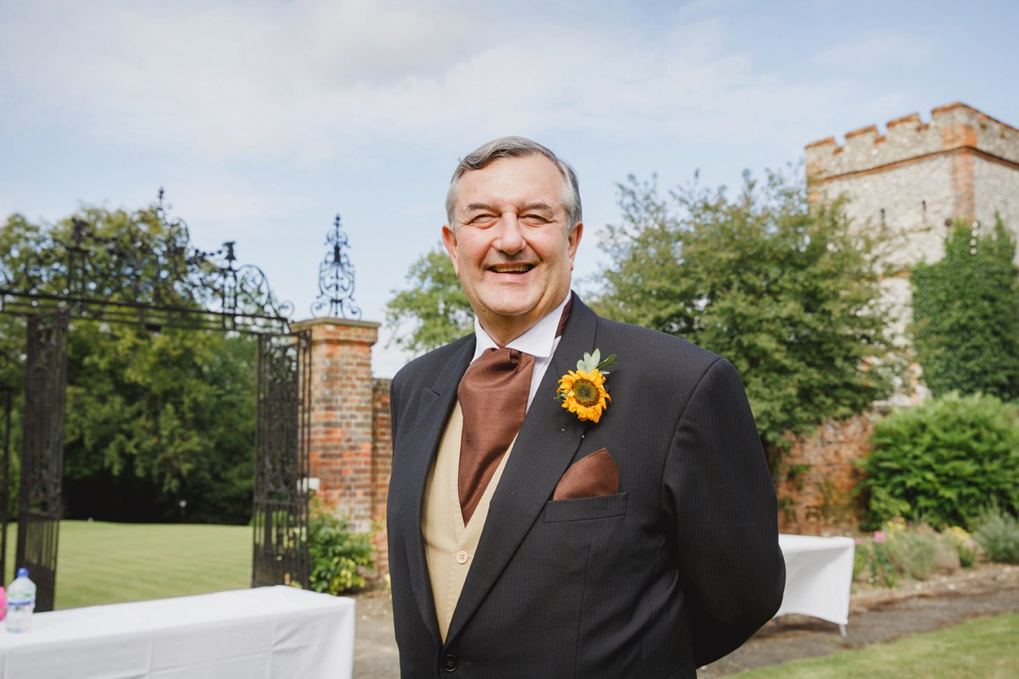 Wycombe Abbey wedding photography father of the bride