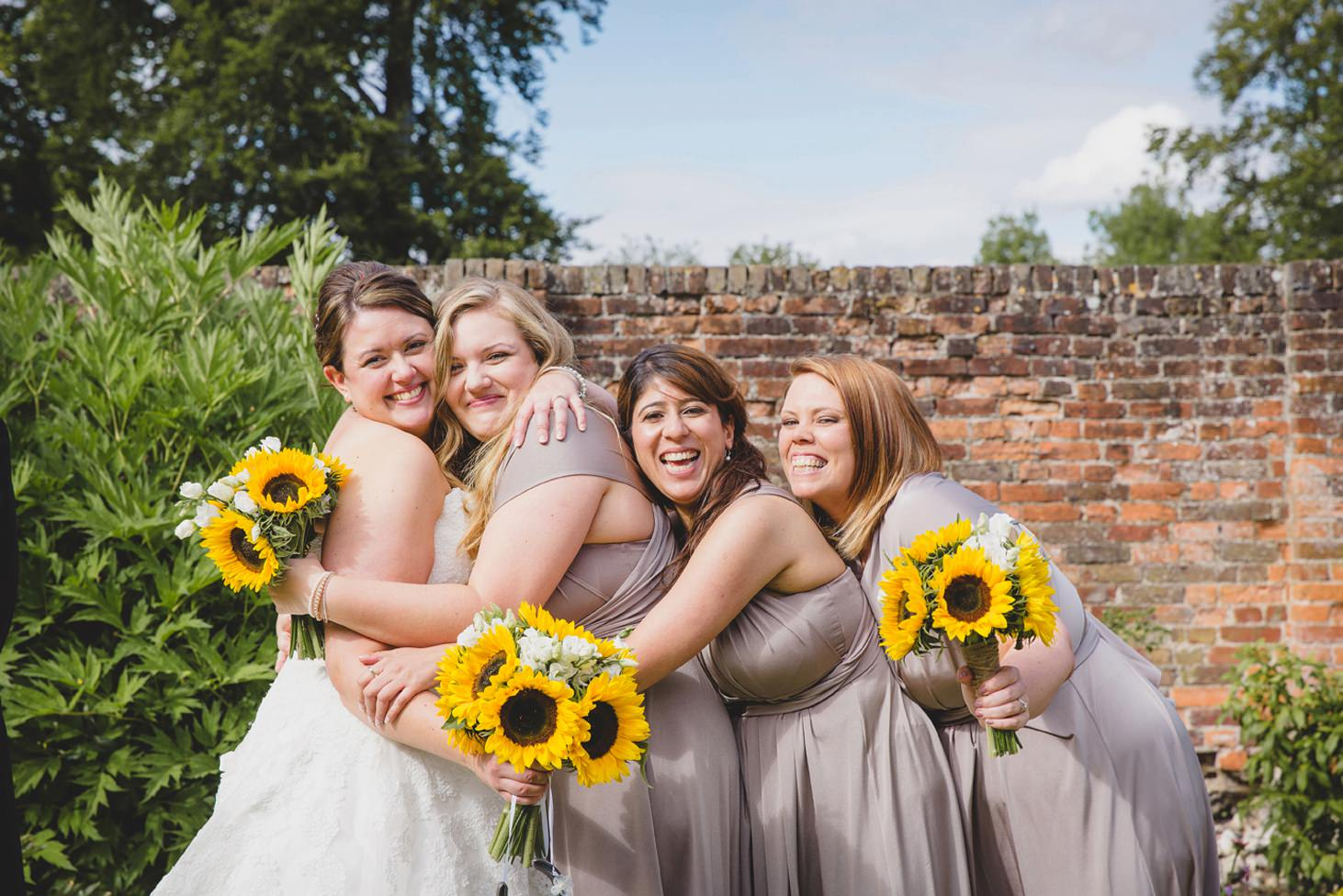 Wycombe Abbey wedding photography bride and bridesmaids