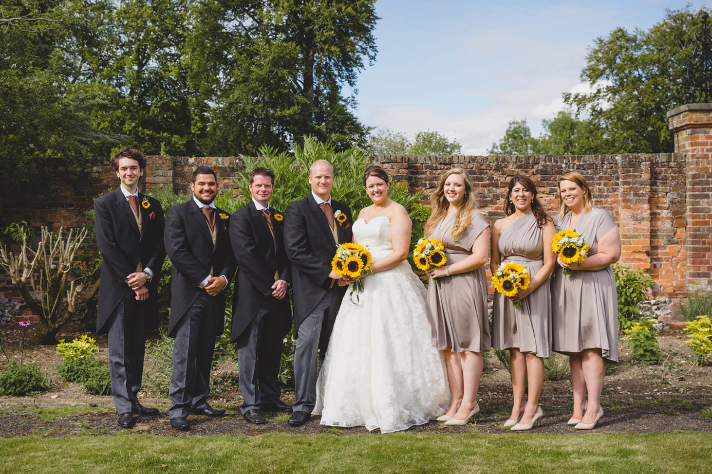 Wycombe Abbey wedding photography bridal party portrait