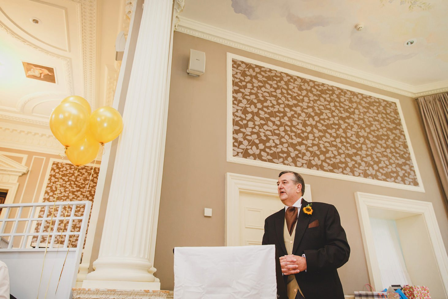 Wycombe Abbey wedding photography father of the bride speech