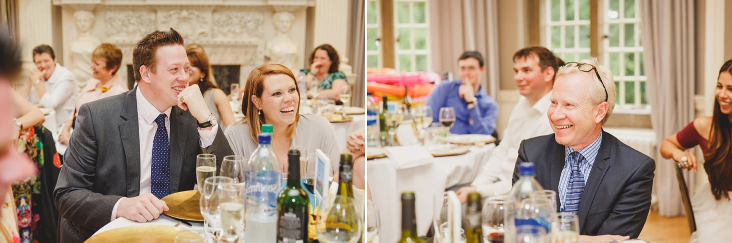 Wycombe Abbey wedding photography speeches guest reactions