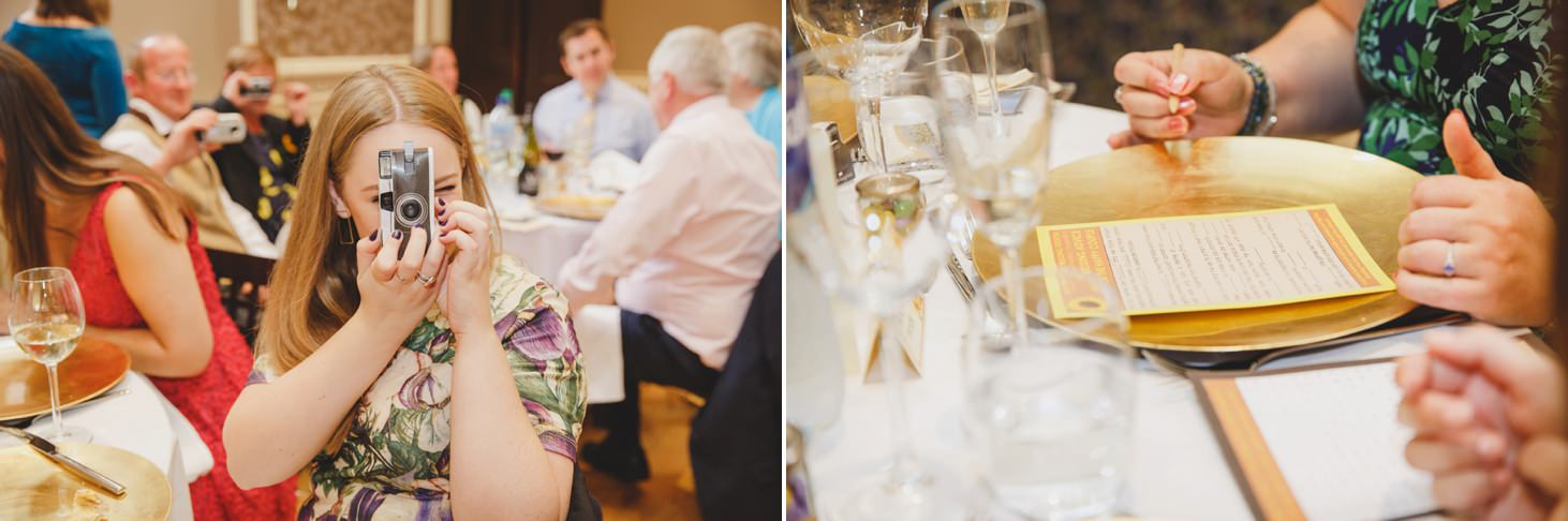 Wycombe Abbey wedding photography guests playing games