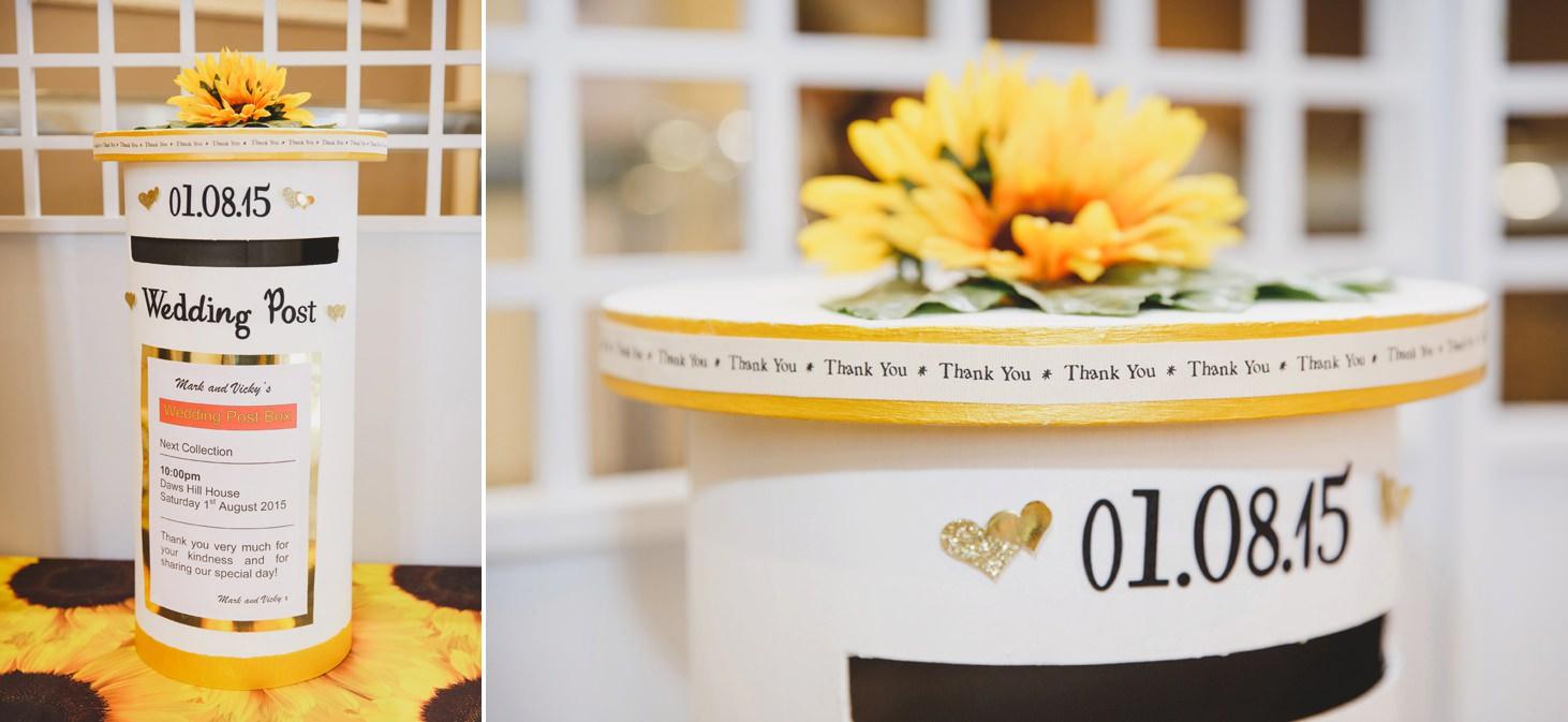 Wycombe Abbey wedding photography wedding postbox