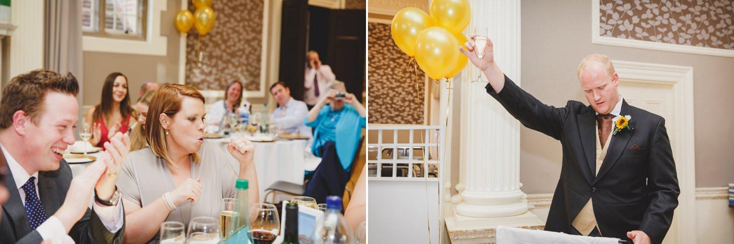Wycombe Abbey wedding photography groom speech