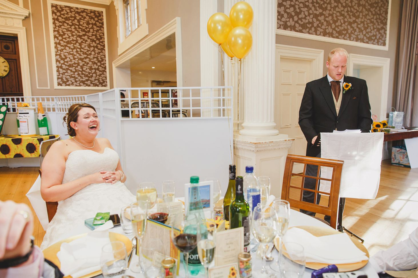 Wycombe Abbey wedding photography groom's speech to bride