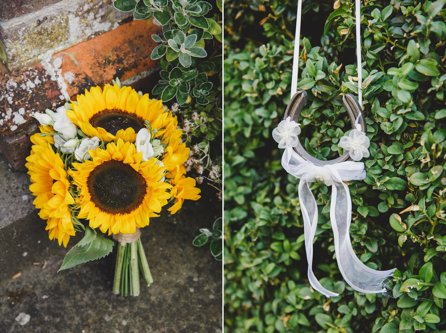 Wycombe Abbey wedding photography flower and horseshoe