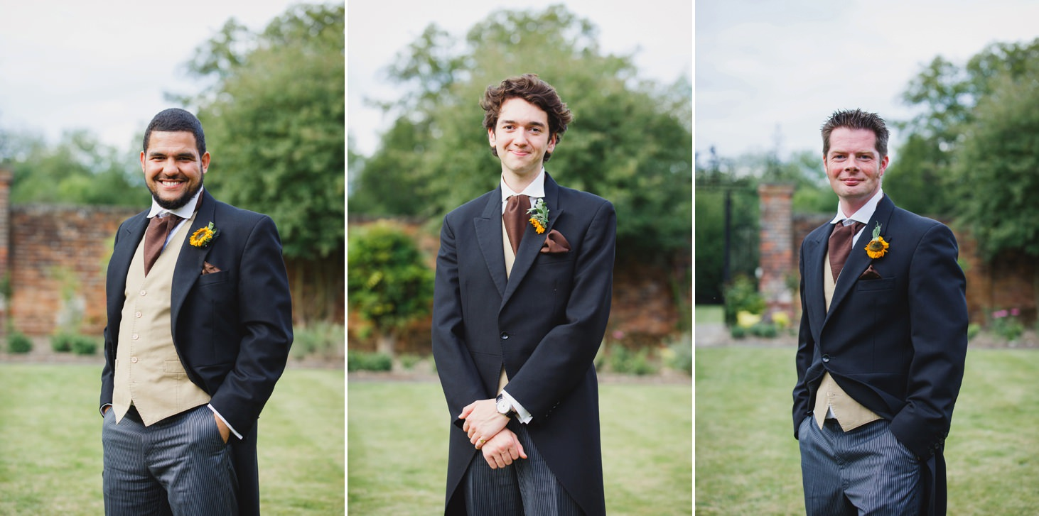 Wycombe Abbey wedding photography groomsmen portraits