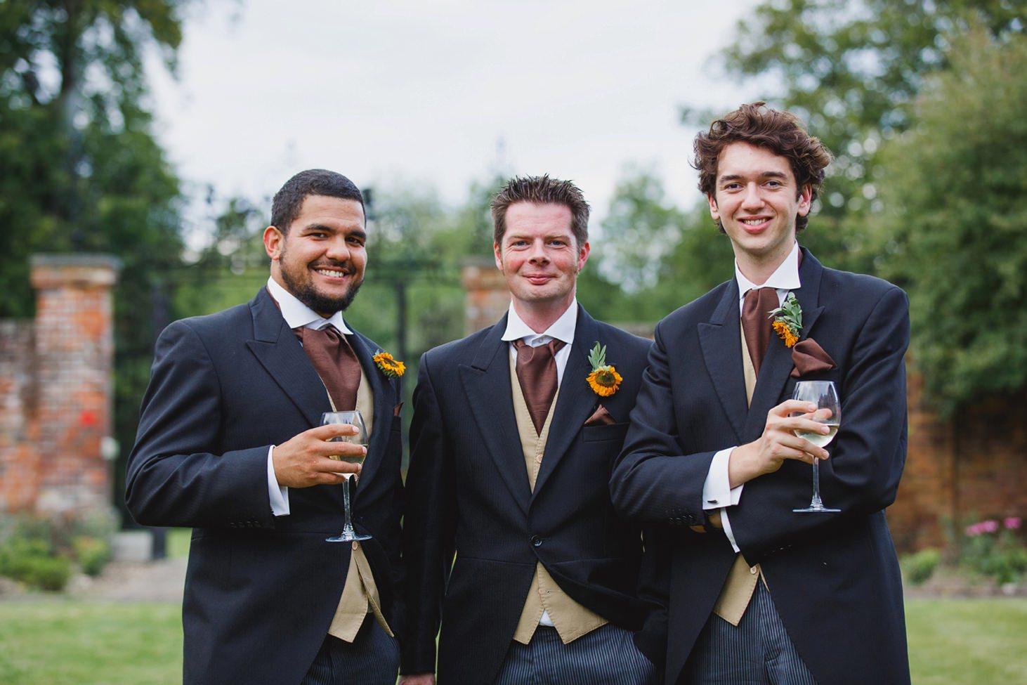 Wycombe Abbey wedding photography groomsmen portrait