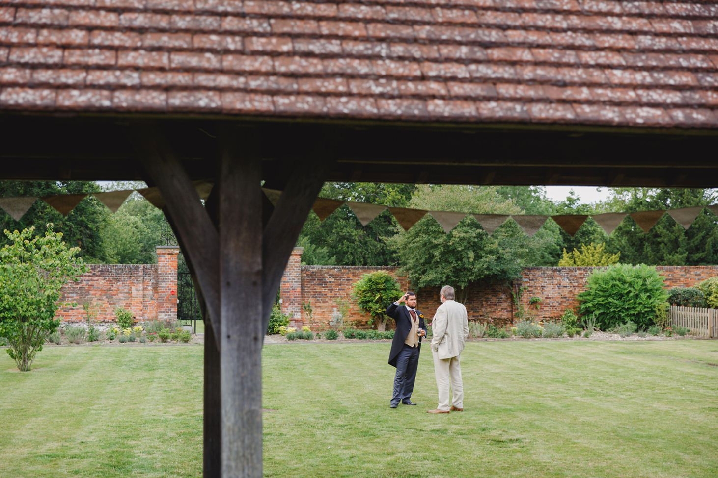 Wycombe Abbey wedding photography guests chatting