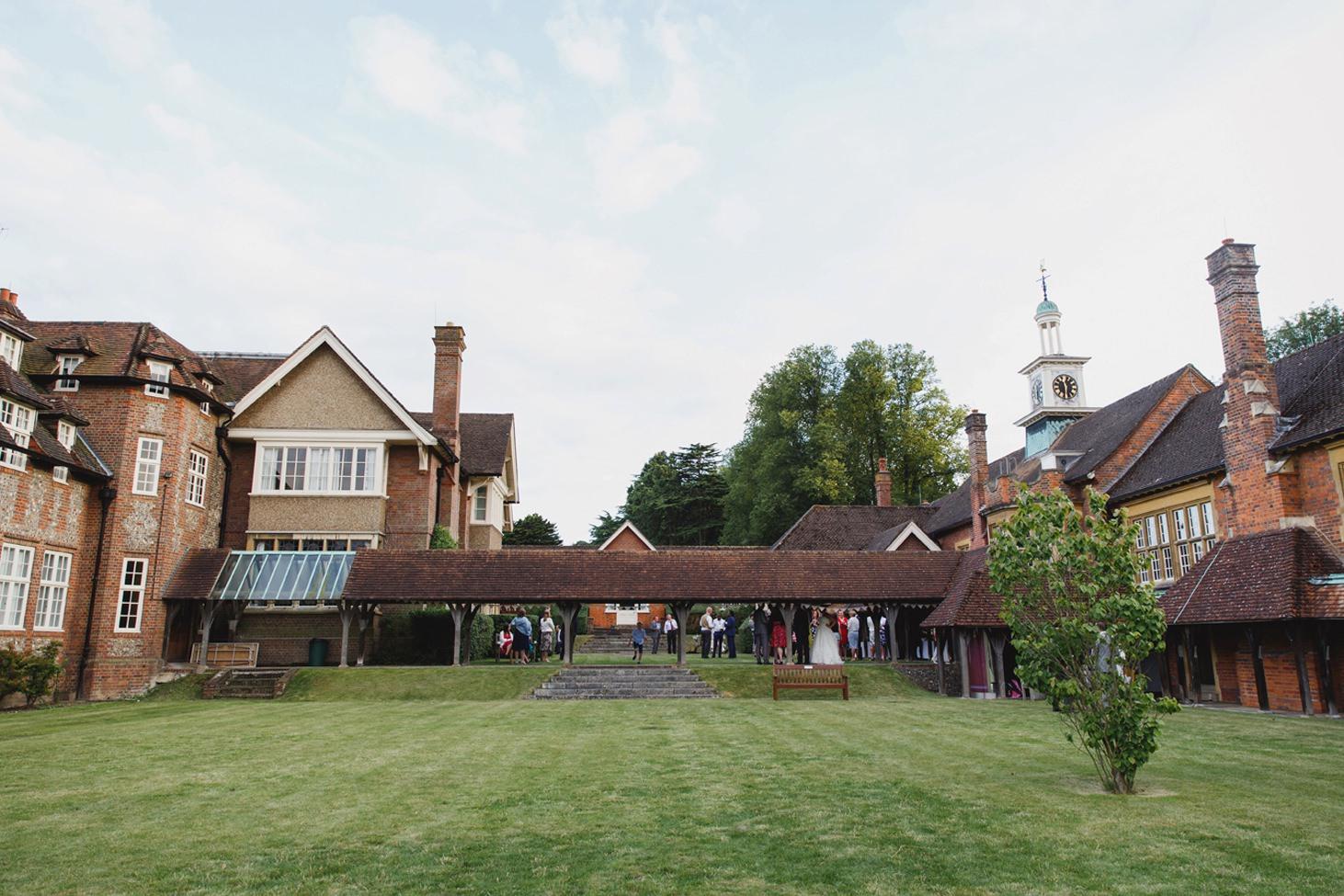 Wycombe Abbey wedding photography school grounds