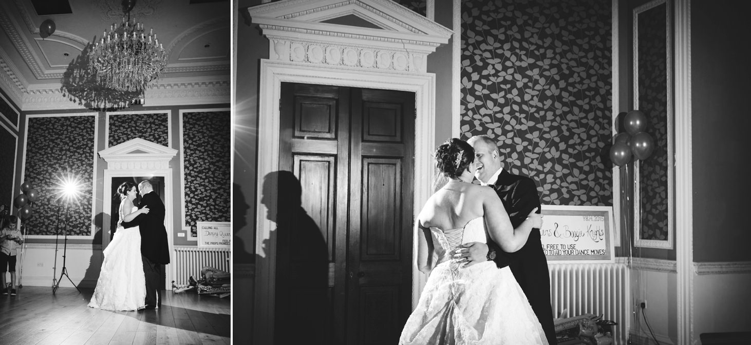 Wycombe Abbey wedding photography bride and groom first dance