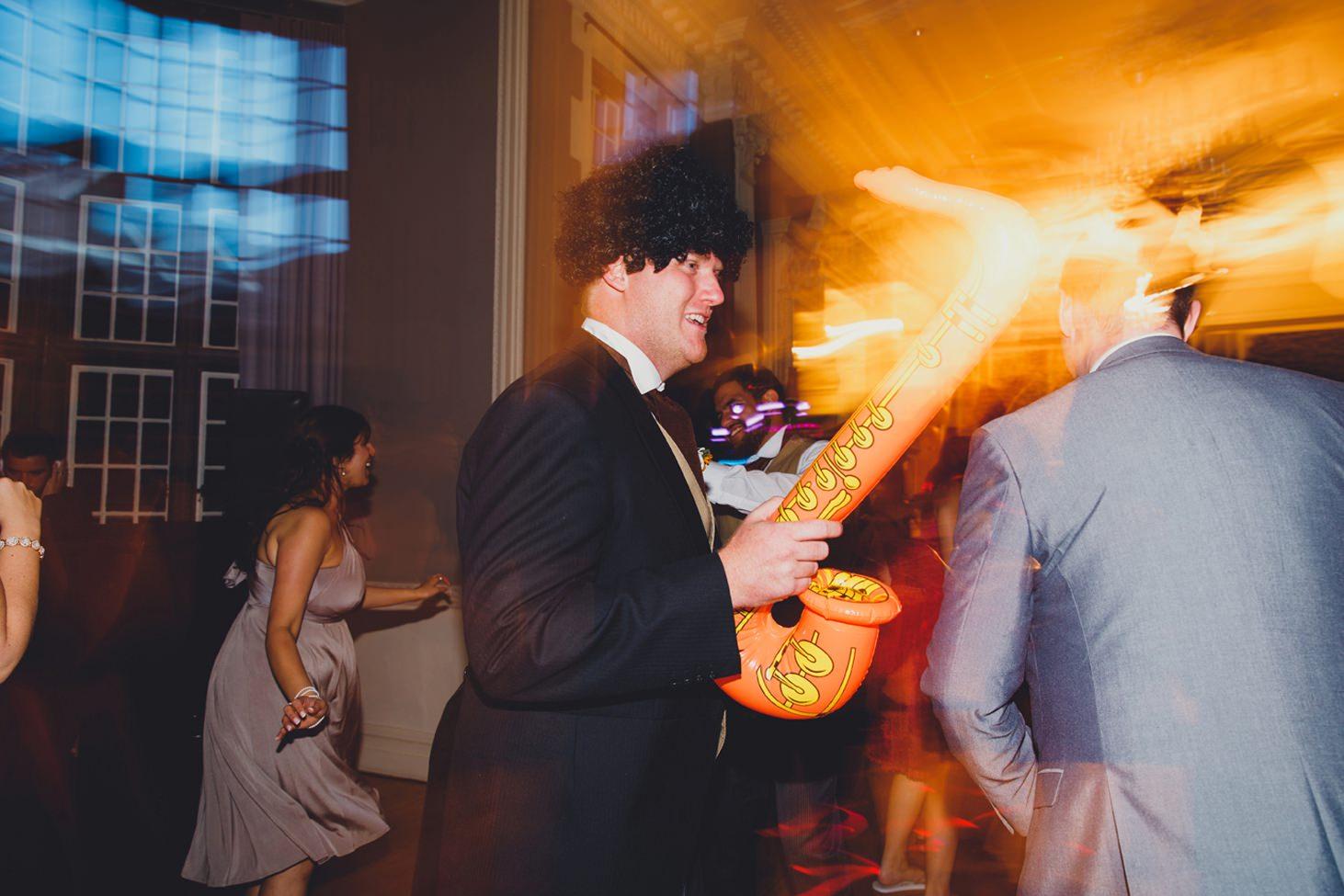 Wycombe Abbey wedding photography groom dancing