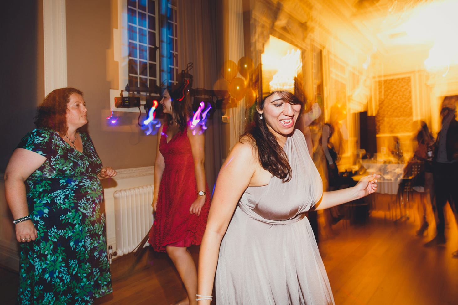 Wycombe Abbey wedding photography bridesmaid dancing