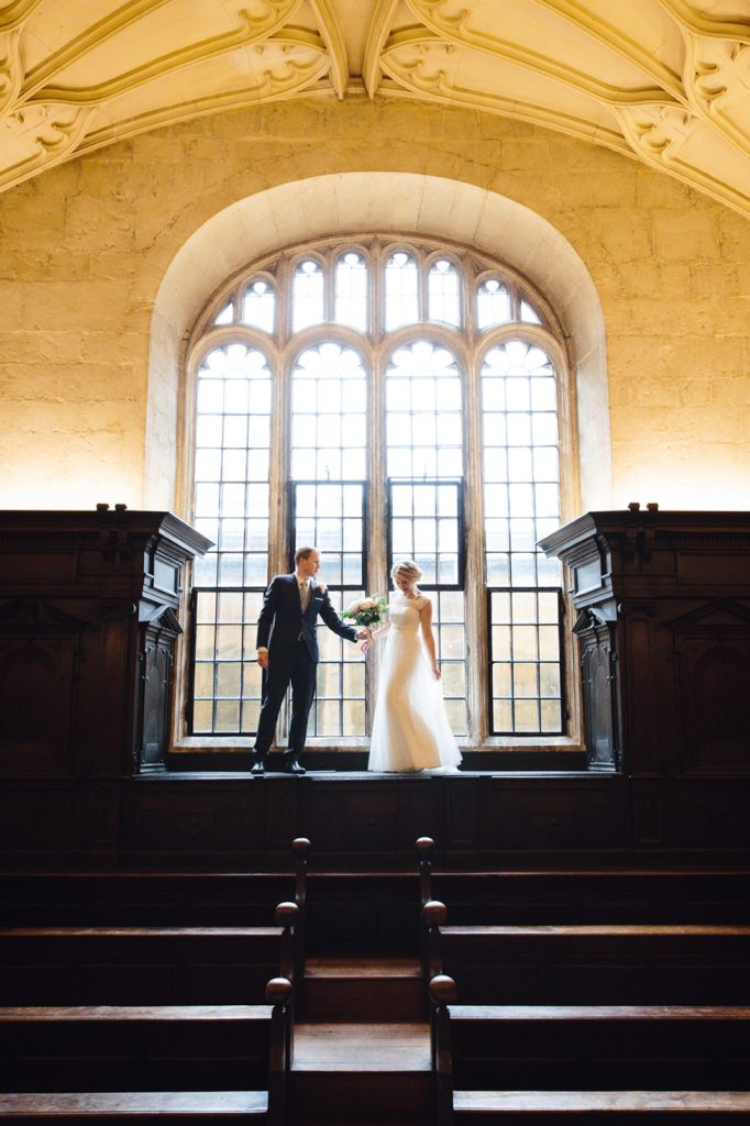 Bodleian library wedding photography with a laid back pub reception – Sarah and Jack's glitter ball themed wedding
