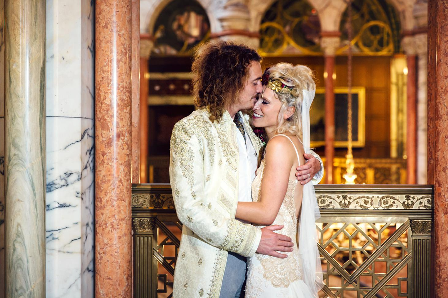 mount stuart wedding photography bride and groom marble hall portrait