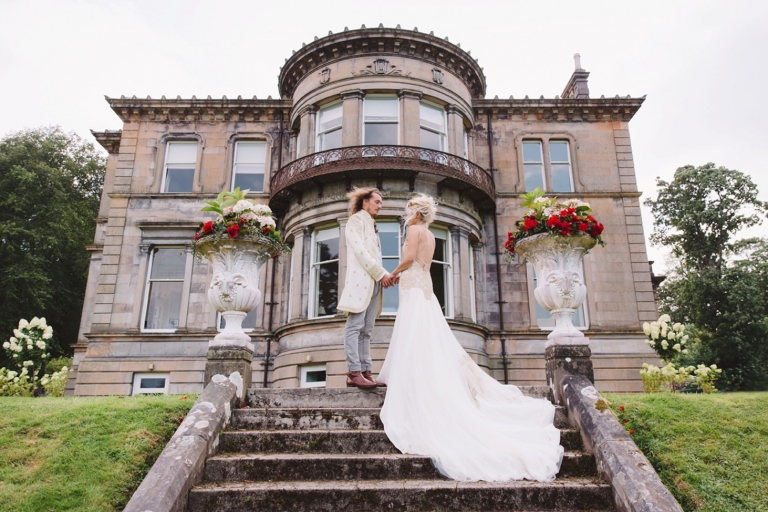 isle of bute wedding photography bride and groom together