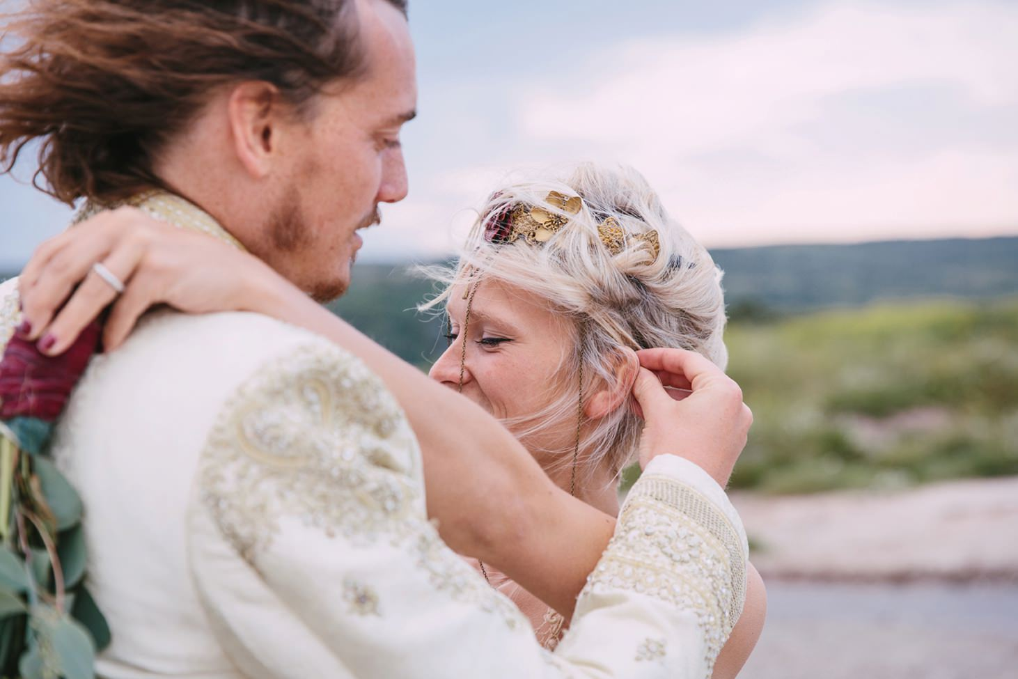 sle of bute wedding photography tender bride and groom