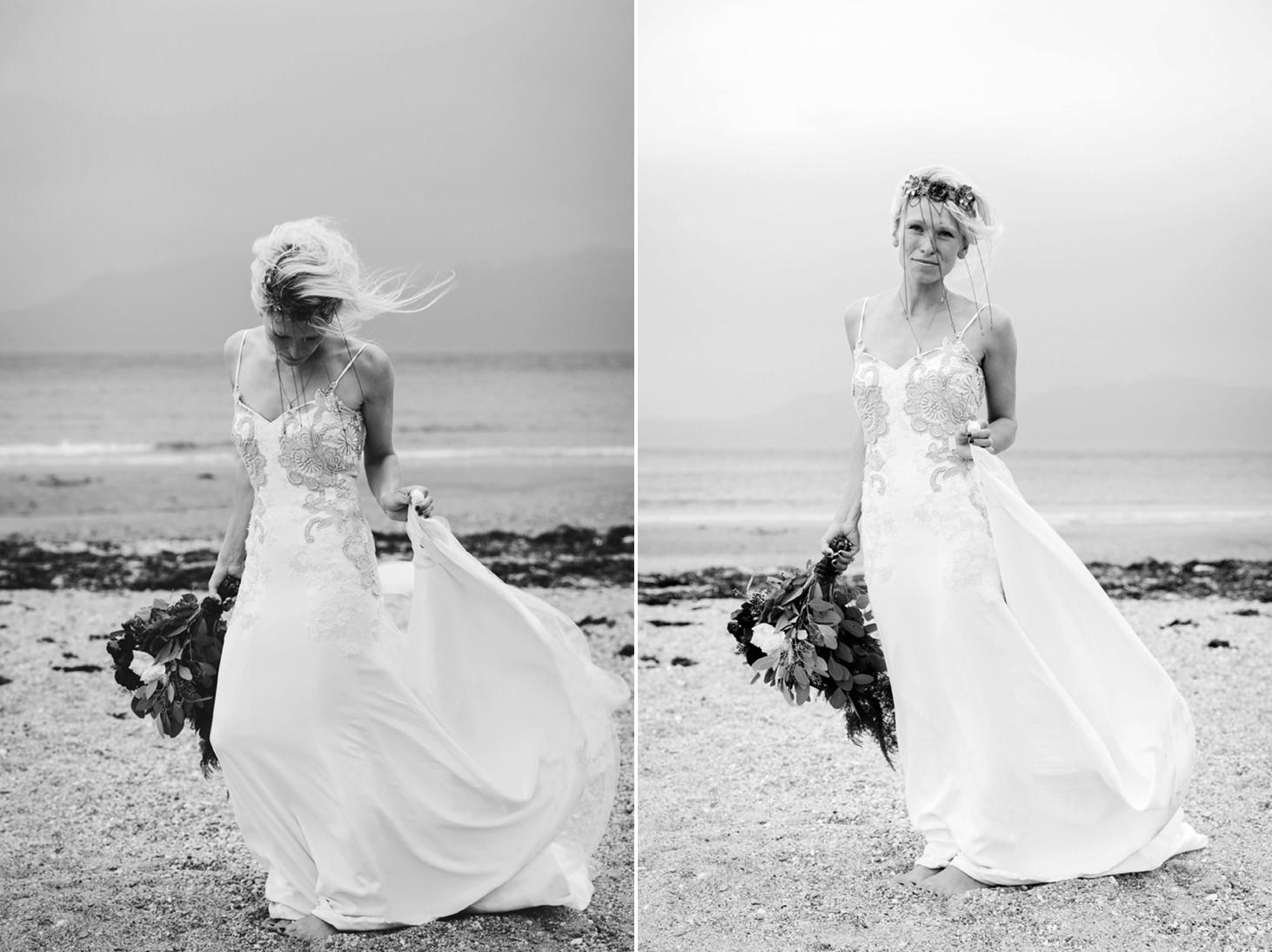 sle of bute wedding photography bride portrait