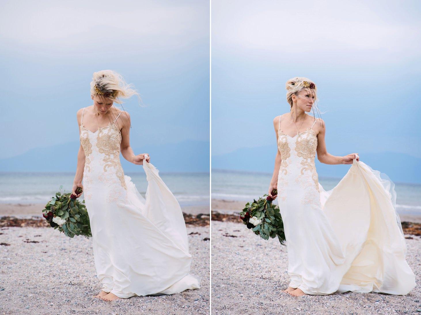 sle of bute wedding photography bride