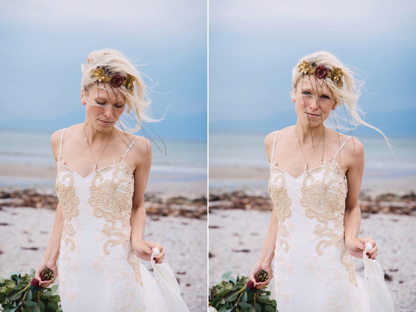 sle of bute wedding photography portrait of bride