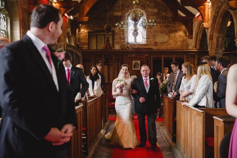 sarah ann wright bride and groom aisle