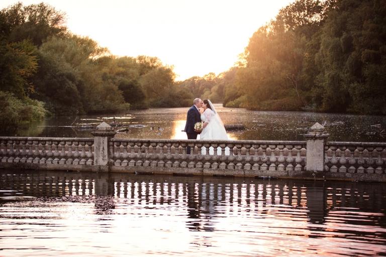 sarah ann wright wedding couple sunset