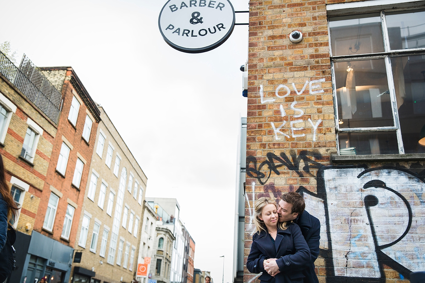 shoreditch engagement photography love is key portrait