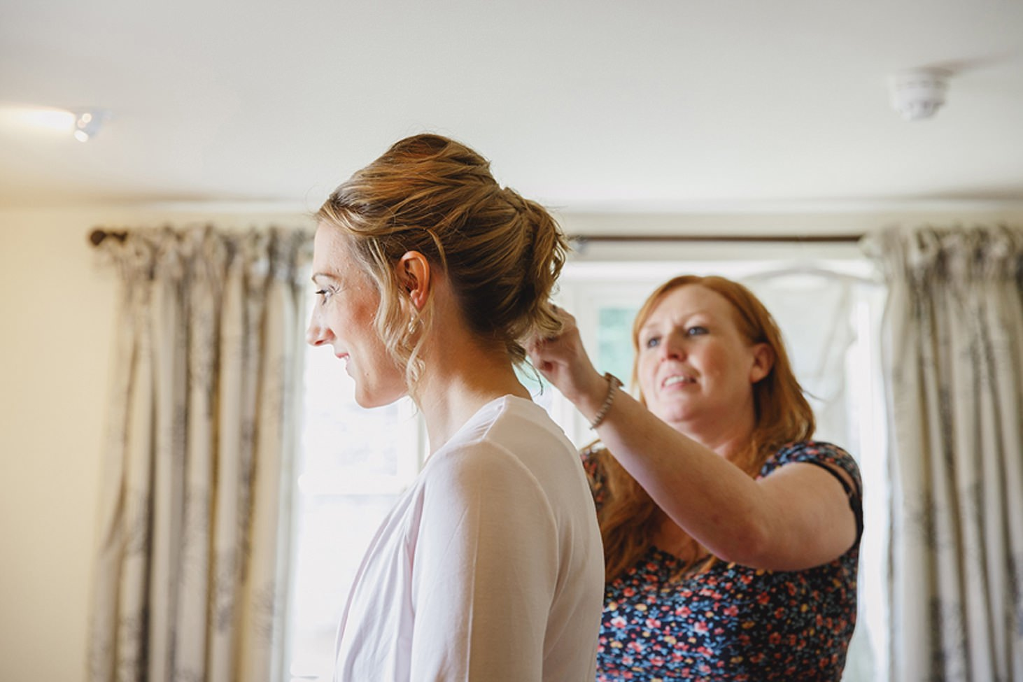 cotswolds wedding bridesmaids hair