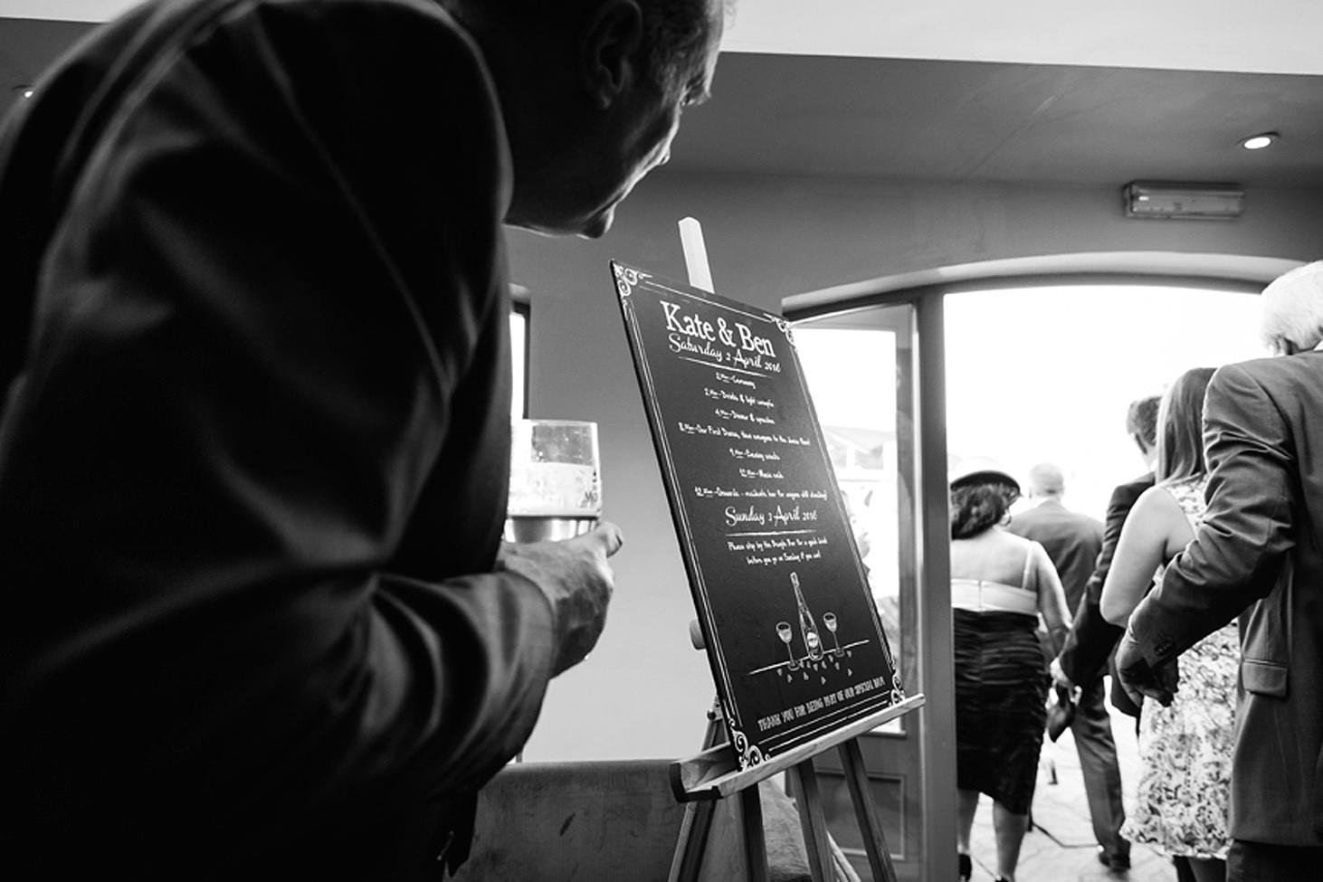 cotswolds wedding wedding timetable