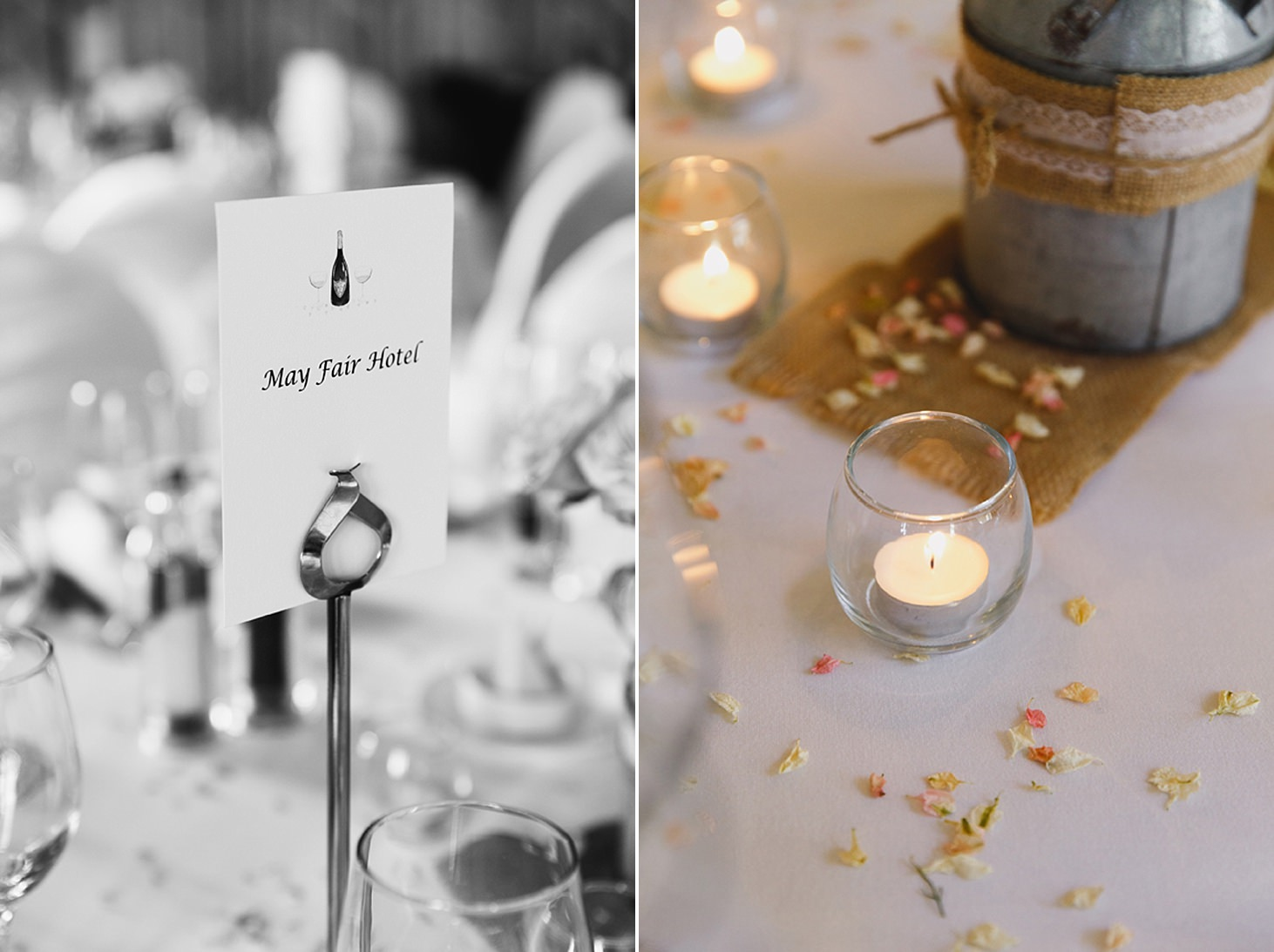 cotswolds wedding table decorations