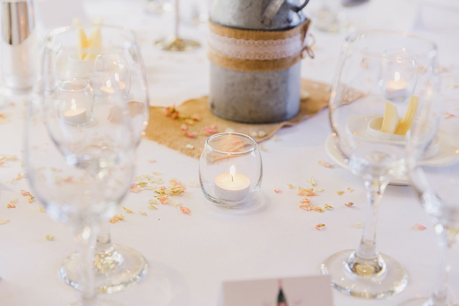 cotswolds wedding table candles