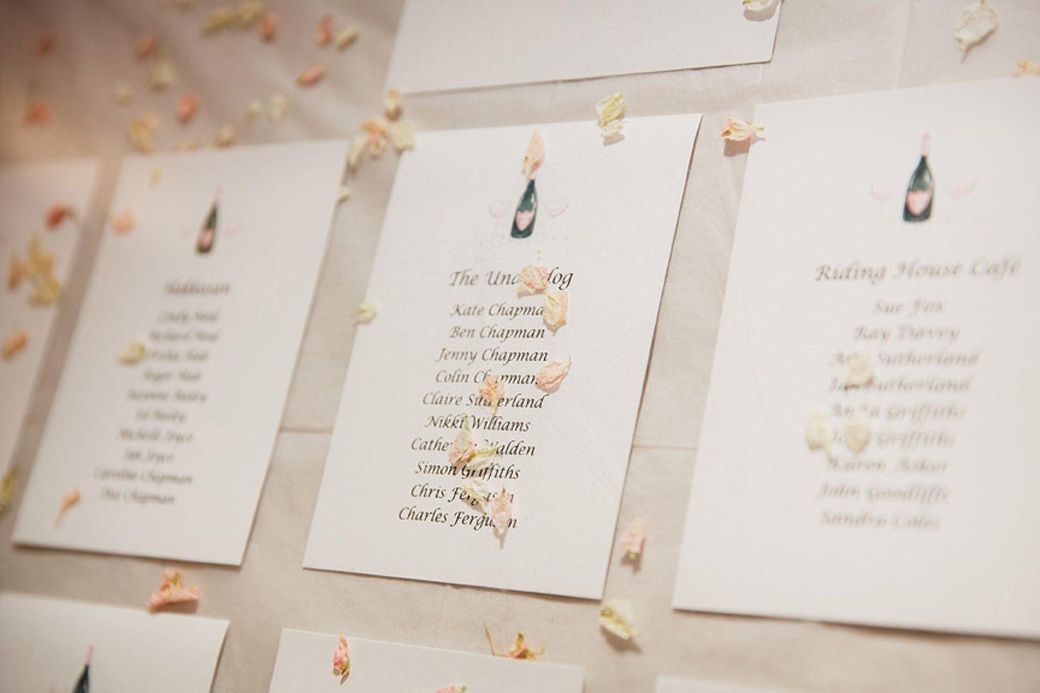 cotswolds wedding wedding table plan