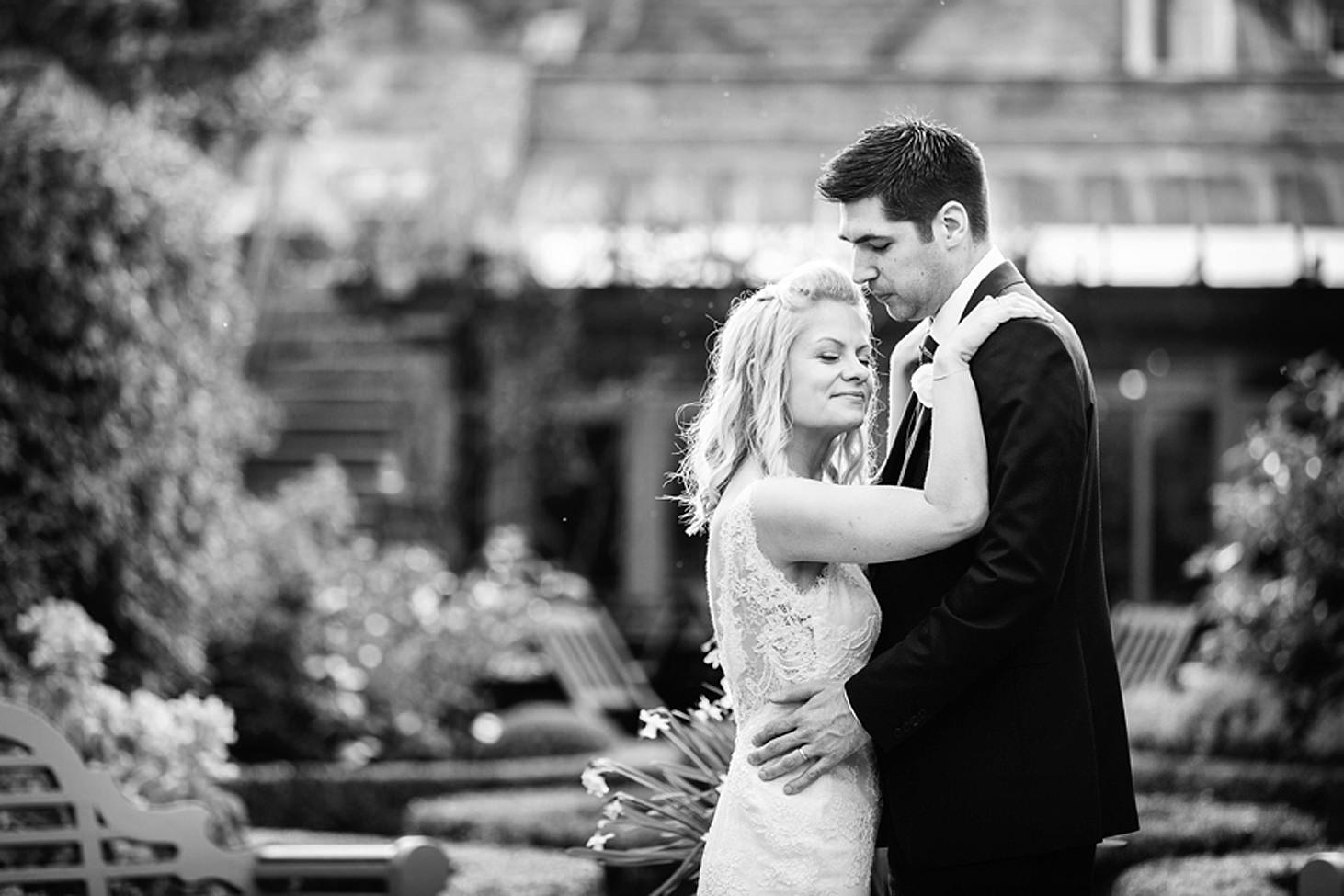 cotswolds wedding groom looking at bride