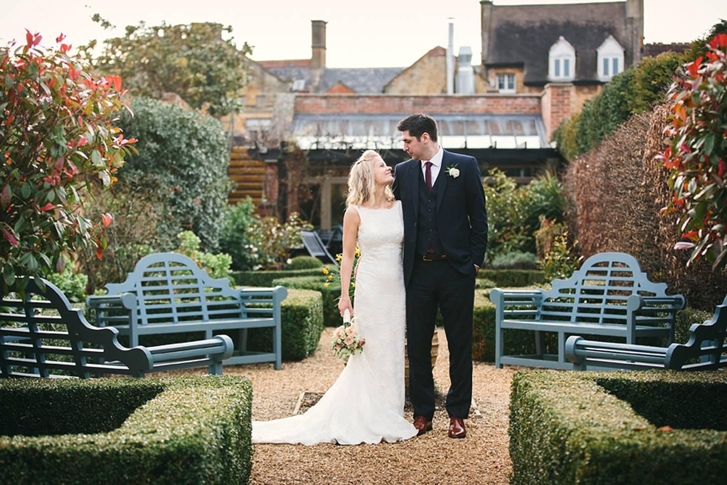 cotswolds wedding simple bridal portrait