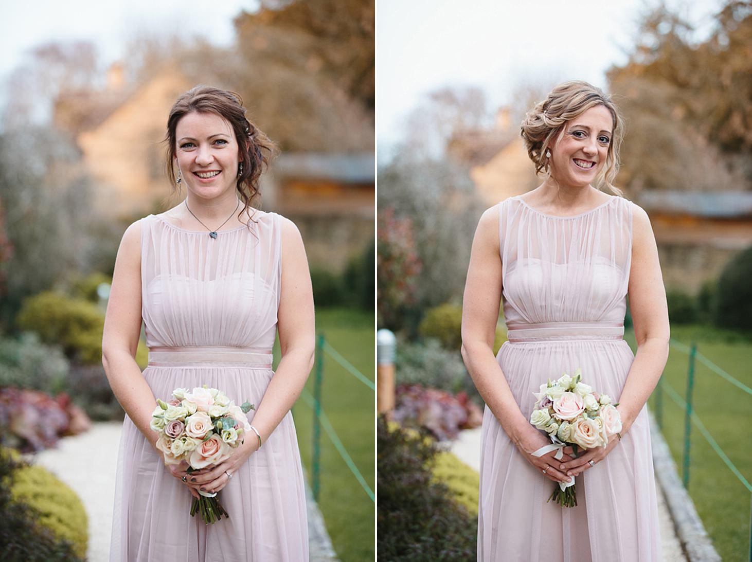 cotswolds wedding bridesmaids portrait
