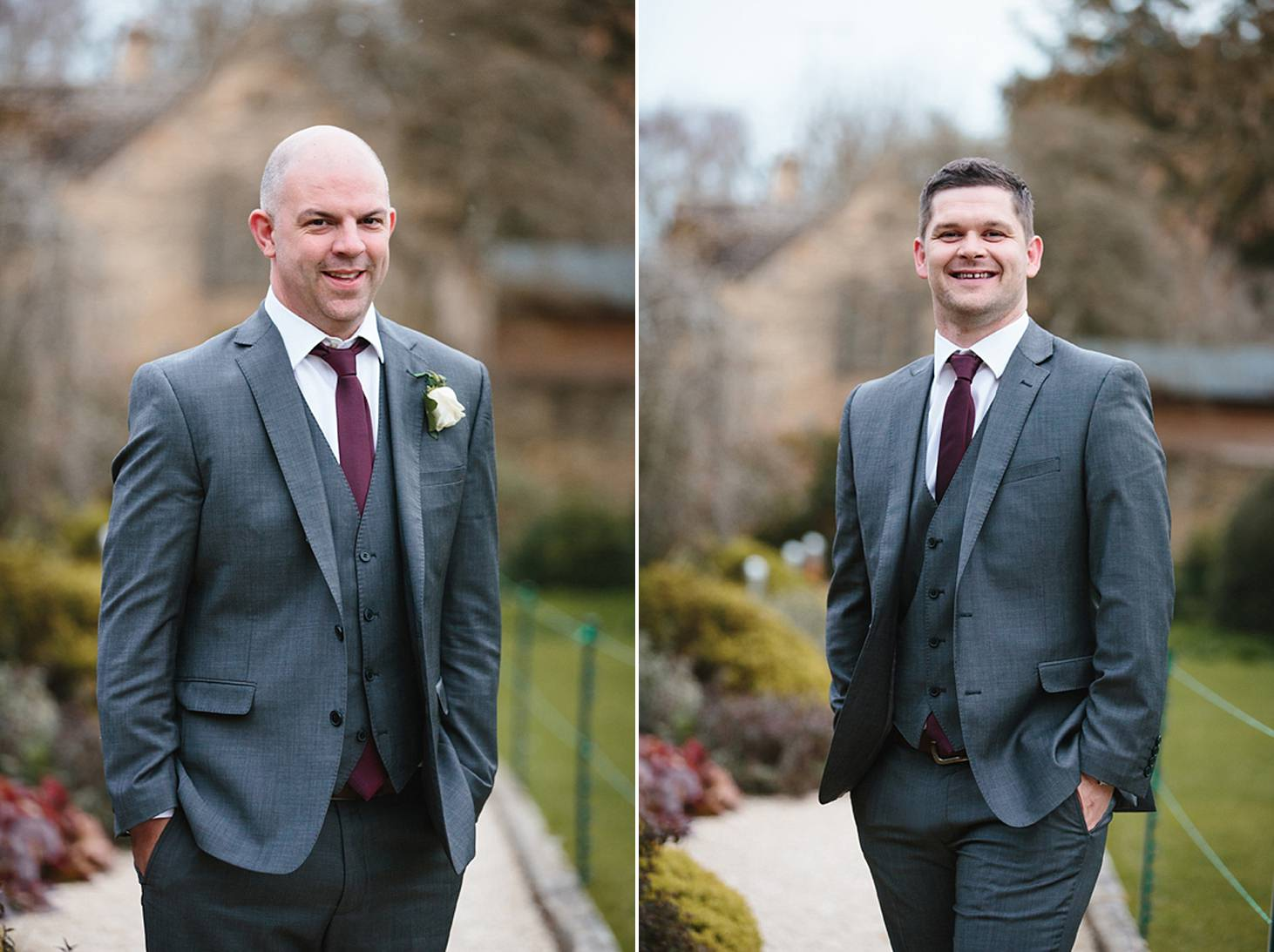 cotswolds wedding groomsmen portrait