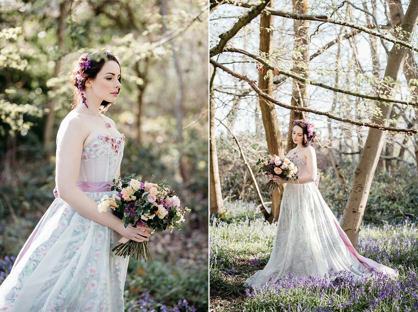 spring bride wedding shoot custom dress