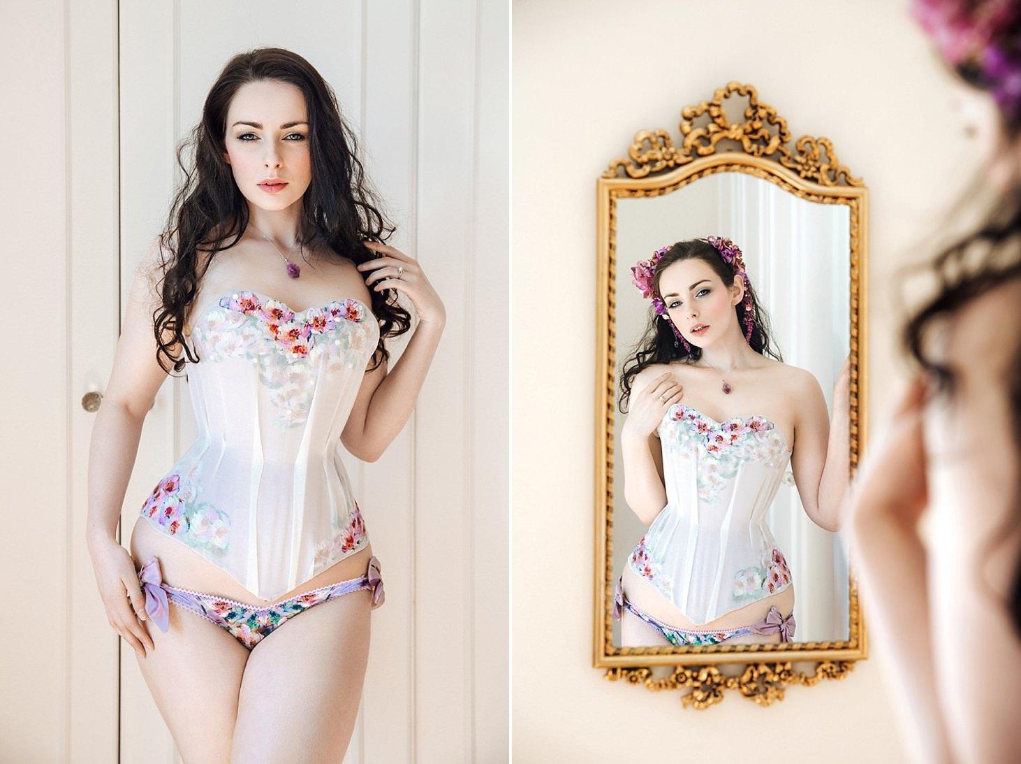 spring bride boudoir corset