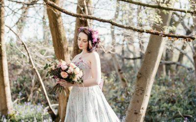 A spring bride – Moody Corsetry custom wedding dress shoot