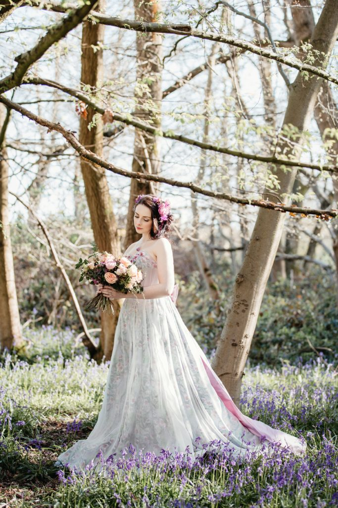 A spring bride – Moody Corsetry custom wedding dress shoot